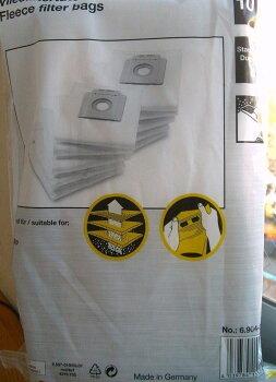 【ケルヒャー業務用】【即納】合成繊維フィルターバック10枚6.904-335.0(6904-3350)(T7/1プラス、T9/1Bp用オプション部品)