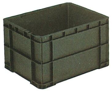 サンエレックナー サンボックス#75-2M  導電性PP 592mm×455mm×354mm ブラック