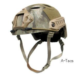 サバイバルゲームにも最適FASTヘルメット(ファストヘルメット) レプリカ A-TACS/マルチカム...