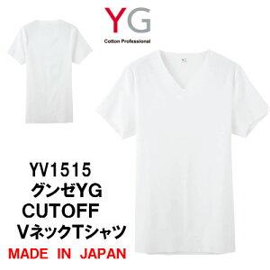 ☆期間限定送料無料☆YV1515-1 透けない アウターにひびかない 2枚までゆうパケット便可 グンゼ メンズインナー YG VネックTシャツ M・L フラットフィット