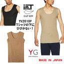 YV2618P グンゼ YG メンズインナー クルーネックスリーブレスシャツ 2枚までメール便発送可能 インティ inT  Tシャツ専用インナー インティー インT 脇パッド付 日本製 カットオフ 単品