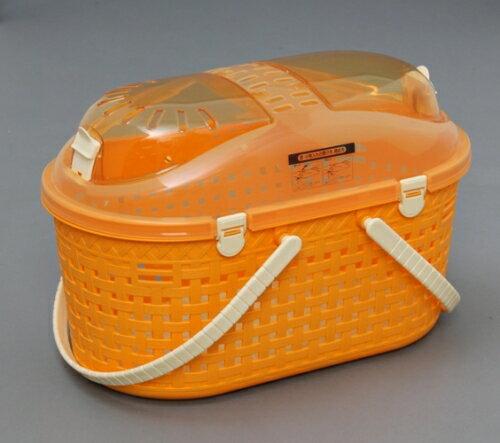 アイリスオーヤマ メッシュペットキャリー MPC450 オレンジ