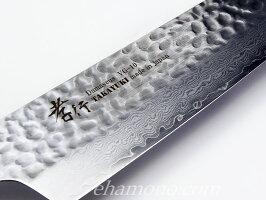 堺孝行V金10号ダマスカス33層鎚目剣型牛刀190