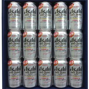 アサヒ ドライゼロ レギュラー缶 350ml缶15本ギフト用包装仕様カロリーゼロ※、糖質ゼロ※【プレゼント】