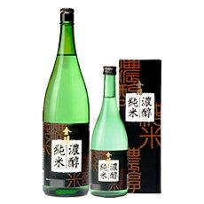 米本来の味わい、コクのある旨みを秘めた純米酒。金陵  濃醇純米 1800ml