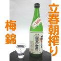 ご予約2015年2月4日入荷梅錦立春朝搾り純米吟醸生原酒720ML