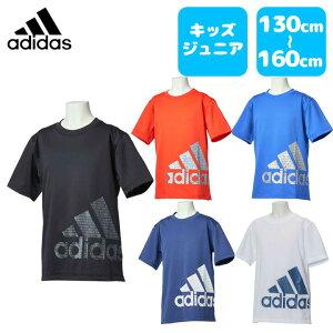 adidas (アディダス) グラフィックTシャツ半袖 ジュニア キッズ 男の子 小学生 通学 サッカー ランニング フィットネス 運動 体育 吸水速乾 通気性 ポリエステル100% etp17