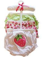 【ゆうメール送料無料】Kyle&Deena3枚組女の子ベビー子供下着ショーツパンツイチゴ柄0-6M/6-12M02