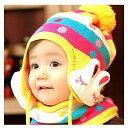 楽天出産祝い・プチギフトに♪キュートなベビー 幼児 子供 ニット帽子 ニットキャップ 4色 1004