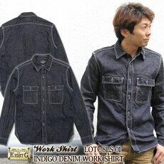 EIGHT-G,メンズ,ワークシャツ,長袖,アメカジ,無地,8LS-01