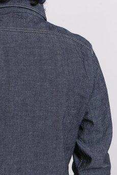 エイトジー,EIGHT-G,シャンブレー,ワーク,シャツ,長袖,8ls-02
