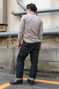 エイトジー,EIGHT-G,ヴィンテージストライプワークシャツ,8ls-47