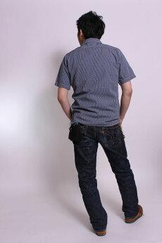 エイトジー,チェック半袖シャツ,ワークシャツ,8ss-25