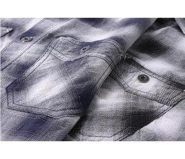 エイトジー,EIGHT-G,オンブレチェック,ワークシャツ,半袖,8SS-27