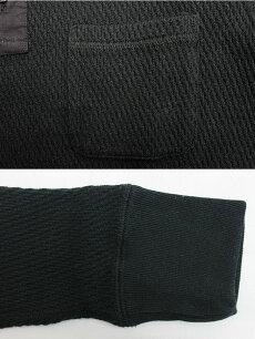 エイトジーEIGHT-G長袖サーマルヘンリーネックTシャツ[8LT-TMHL]サーマルヘンリーポケTメンズ無地サーマルヘンリーネックロンTエイトジー無地ポケット付きTシャツ厚手サーマルヘンリーロンT