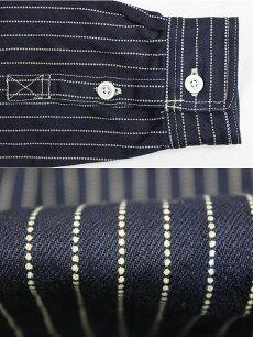 ディティール,エイトジー,EIGHT-G,長袖,ウォバッシュストライプワークシャツ,8LS-36