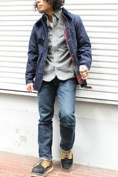 エイトジーEIGHT-Gダックカバーオールフランネルライニングダックジャケット極厚ダック生地カバーオールジャケットメンズ[8JK-10]@