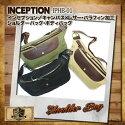 INCEPTION,インセプション,帆布&レザーショルダーバッグ,ボディバッグ,IPHB-01