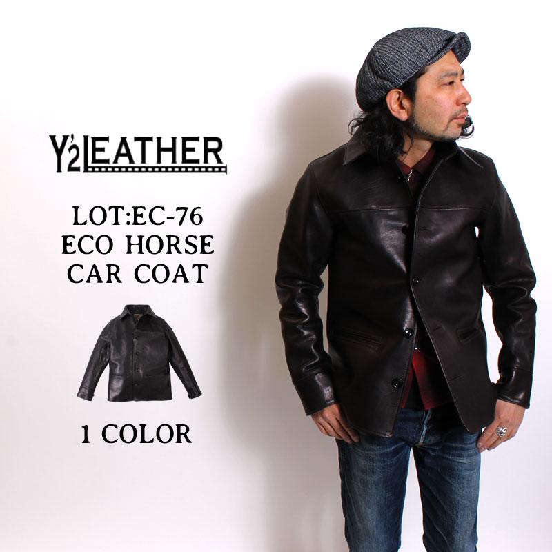 メンズファッション, コート・ジャケット  Y2 LEATHER ECO HORSE CAR COAT EC-76