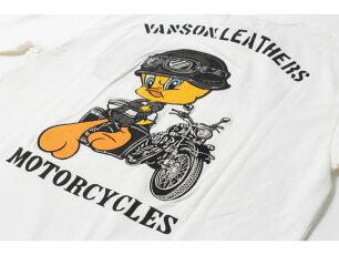 バンソン,vanson,Tシャツ,刺繍,トゥイーティー,LTV-2112