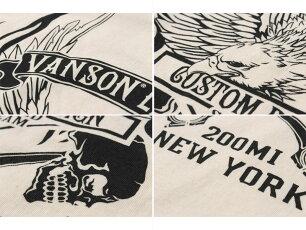 バンソン,vanson,Tシャツ,フライングイーグル,NVST-2125