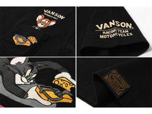 バンソン,vanson,Tシャツ,刺繍,トムとジェリー,TJV-2111