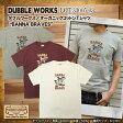 """ダブルワークス DUBBLE WORKS 半袖オーガニックコットンTシャツ """"BANNA BRAVES"""" メンズ [33005-03-BANNA]"""