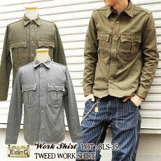 エイトジー,EIGHT-G,長袖,ツイードワークシャツ,ツイードシャツ,8LS-35
