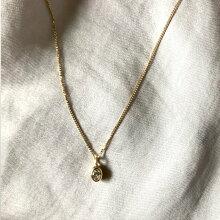 hirondelle(イロンデール)k18hn-339オーバルダイヤネックレス【送料無料】