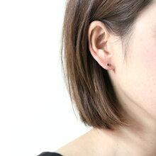 sala(さら)/k18一粒ストーンピアス(片方タイプ)/ルビー