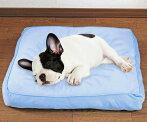 冷触感ひんやりスクエアベッド犬・猫・ペット用低反発マシュマロクッショングレープ【北海道・沖縄離島は別途送料】