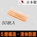ホギメディカル サージカルマスク 5層構造・液体防護 50枚
