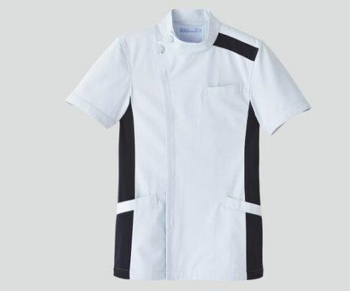 KAZEN/アプロン メンズジャケット 半袖 ホワイト×ネイビー 094-28 LL (8-6856-04)