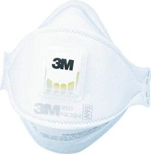 3M 防護マスク 9211 N95認定 3面立体構造折りたたみ式 排気弁付き10枚入 (921…