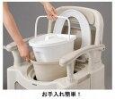 パナソニック 樹脂製ポータブルトイレ 座楽SPシリーズ 背もたれ型SP 標準便座タイプ VALSPTSPBE (ポータブルトイレ 肘付き椅子 プラスチック 椅子) 介護用品 2
