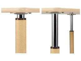 (き)介援隊昇降テーブル2本固定脚+2本キャスター付脚UFT-4T1690-NKL2(3)(施設用テーブル)介護用品