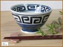 呉須角紋ご飯茶碗
