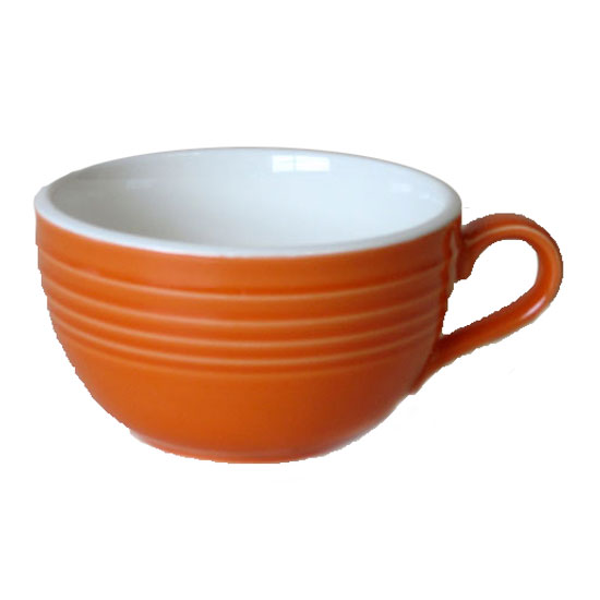 スープカップ オレンジ カフェラテカップ国産 食洗機 レンジ 味噌汁 お椀 和モダン プレゼント 和食器 おしゃれ 持ち手画像