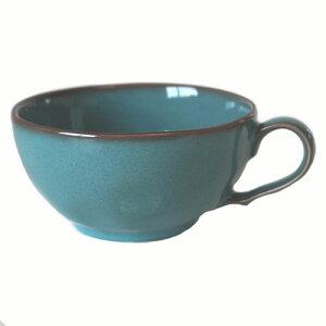 スープカップ アンティークブルー国産 食洗機 レンジ 味噌汁 モダン お椀 プレゼント 洋食器 おしゃれ 持ち手