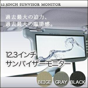 サンバイザーモニター12.3インチ左右2個セット