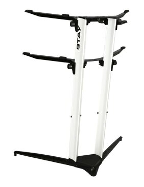 STAY(ステイ)1200/2 P WH Keyboard Stand【White/ホワイトカラー】 【〜88鍵盤用 キーボード・スタンド/2段】【1200/02 Piano】【送料無料】
