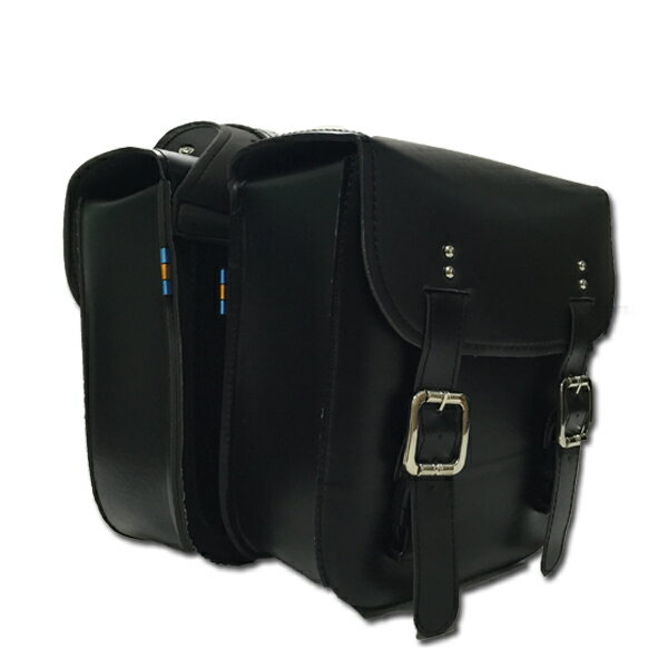 バイク用 サイドバッグ 2個セット ツールバッグ ケース ワイルドレザー調 大容量/工具/アメリカン/ハーレー/ツーリング/おすすめ/防水/革/取り付け/自作/おしゃれ/固定/通勤/自転車