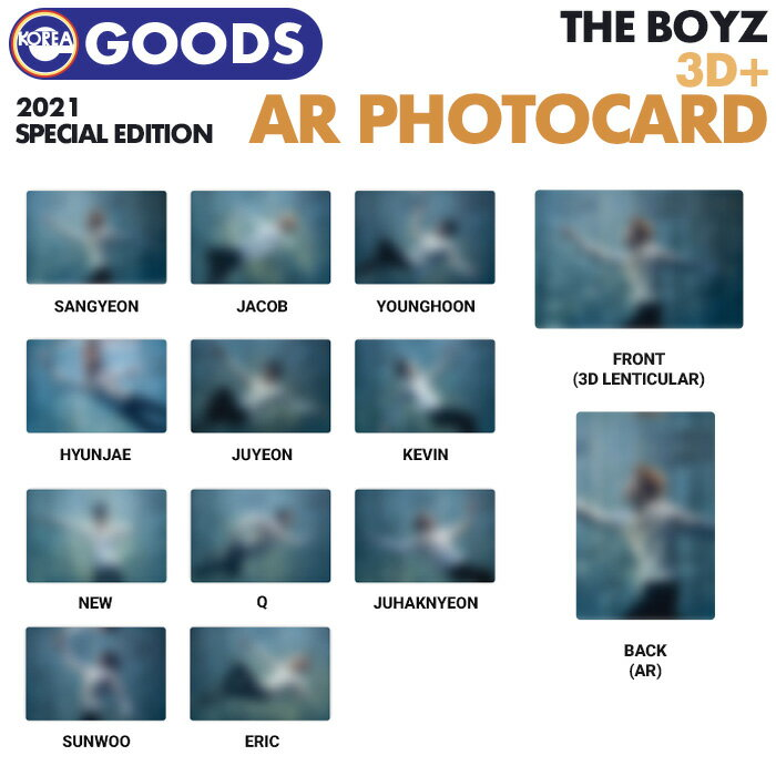 CD, 韓国(K-POP)・アジア  3D AR 3D AR PHOTOCARD THE BOYZ 2021 SPECIAL EDITION OFFICIAL MD