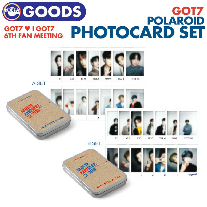 韓国(K-POP)・アジア, 韓国(K-POP)  POLAROID PHOTOCARD SET GOT7 6TH FAN MEETING ONCE UPON A TIME IGOT7