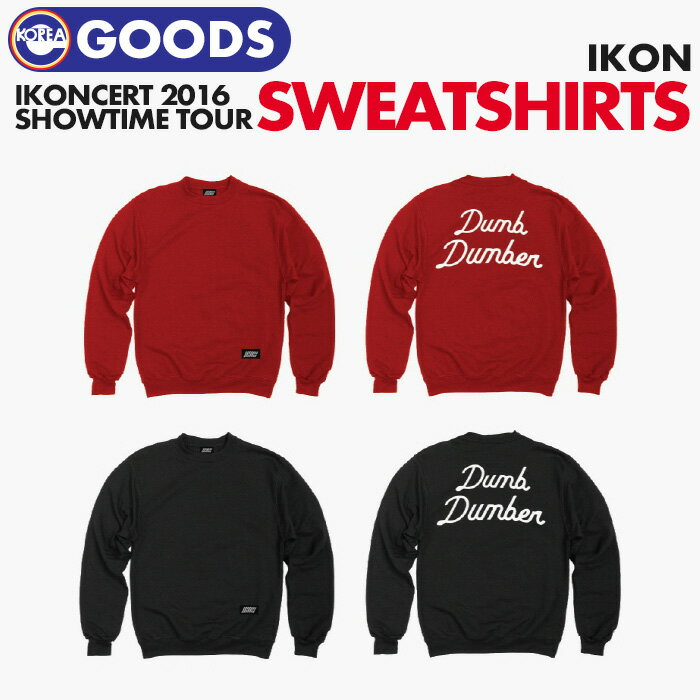 韓国(K-POP)・アジア, 韓国(K-POP)  iKON SWEATSHIRTS iKONCERT 2016 SHOWTIME TOUR