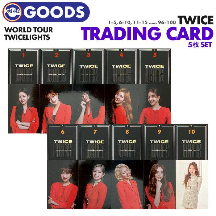 CD, 韓国(K-POP)・アジア  5 TWICE LIGHTS WORLD TOUR TRADING CARD PHOTO
