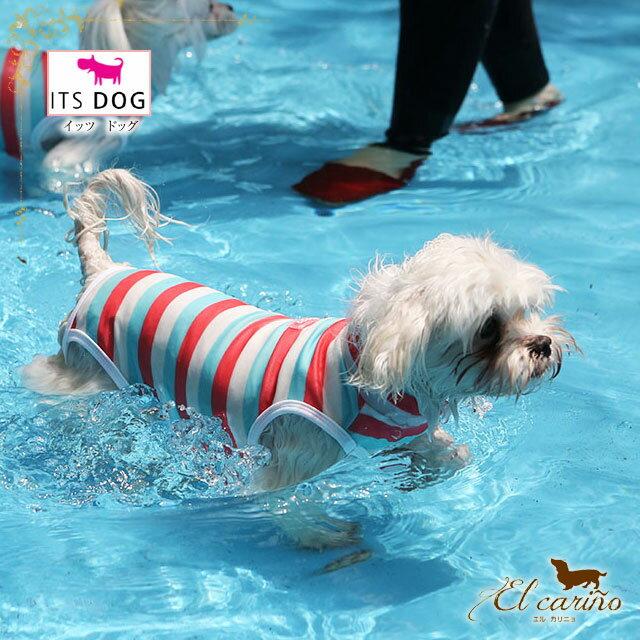 ITSDOG【正規輸入店】水着 ストライプ プール マリン 服 かわいい