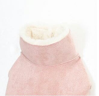 ITSDOG【正規輸入】犬 服 コート ピンク ハイネック 秋 冬物 ペット服 袖なし ボタン 小型犬 中型犬 チワワ プードル ポメラニアン 男の子 女の子 防寒 あったかい サイズは外寸です