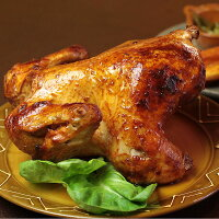 送料無料!クリスマス限定ローストチキン(鶏の丸焼き)セット・ビッグ1羽で4人から6人分!この価格でこのサイズはウチだけ【RCP】