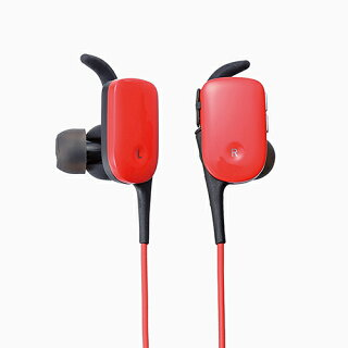 【送料無料】ランニングやジムにおすすめスポーツ用防水Bluetooth(ブルートゥース)イヤホン:LBT-HPC11WPRD[ELECOM(エレコム)]【税込2160円以上で送料無料】